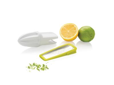 2-in-1 citruspers en rasp, wit