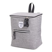 Twin Tone Bicycle Cooler Bag Grey