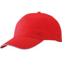 5 Panel Promo Sandwich Cap rood/wit