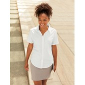 Ladies' short-sleeved oxford shirt (65-000-0)
