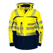 PROJOB 6417 JACKET HV BLUE/YELLOW 3XL