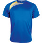 Kindersportshirt sporty royal blue / sporty yellow / storm grey 12/14