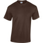 Heavy cotton™ classic fit adult t-shirt dark chocolate xl