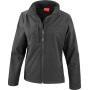 Ladies classic soft shell jacket black s