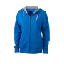 Ladies' Lifestyle Zip-Hoody kobalt/heather grijs
