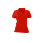 Ladies' Polo tomaat/wit