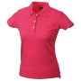 Ladies' Elastic Piqué Polo roze