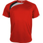 Kindersportshirt sporty red / black / storm grey 12/14