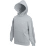 Kids classic hooded sweat (62-043-0) heather grey 7/8