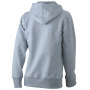 Ladies' Hooded Sweat heather-grijs