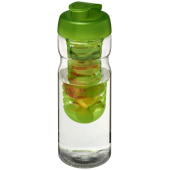 H2O Base® 650 ml sportfles en infuser met flipcapdeksel - Transparant, Lime