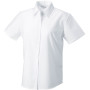 Ladies short sleeve easy care oxford shirt white xl