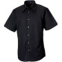 Men's short sleeve tencel® fitted shirt black xl