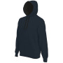 Hooded sweater met gecontrasteerde capuchon dark grey / black 3xl