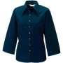 Ladies' 3/4 sleeve tencel® fitted shirt navy l