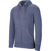 Men's melange full zip hooded sweatshirt