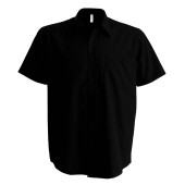 Ace - heren overhemd korte mouwen black xl