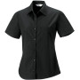 Ladies' ss pure cotton easy care poplin shirt black xxl
