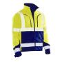 1243 Softshell Jacket HV KL.3 Yellow/Navy xxl