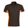 Flag - tweekleurige polo dark grey / orange 3xl