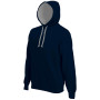 Hooded sweater met gecontrasteerde capuchon navy / fine grey 4xl