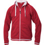 Gerry hr hooded vest 300 g/m² rood/wit m