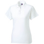 Ladies' classic cotton polo white xs