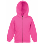 Kids Classic Hooded Sweat Jacket Fuchsia 14-15jr