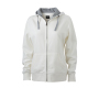 Ladies' Lifestyle Zip-Hoody gebroken wit/heather grijs
