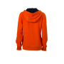 Ladies' Lifestyle Zip-Hoody donkeroranje/navy