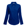 Lady-Fit longsleeve Oxford Shirt Navy M