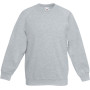 Kids raglan sweat (62-039-0) heather grey 12/13