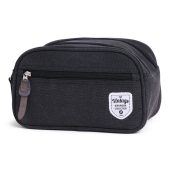 Vintage Canvas Cosmetic Bag Black