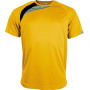 Kindersportshirt sporty yellow / black / storm grey 12/14