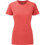 Ladies' hd t red marl xs