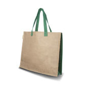 Jute schoudertas Green