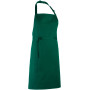 Colours bib apron bottle green one size