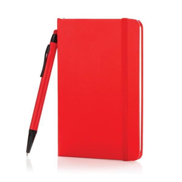 A6 basic hardcover notitieboek met touchscreen pen, zwart
