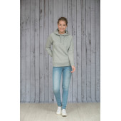 L&S Melange hooded sweater for her