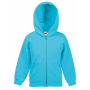 Kids Classic Hooded Sweat Jacket Azure Blue 5-6jr
