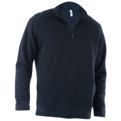 Full zip french terry sweatshirt