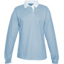 Damesrugbypolo sky blue xl
