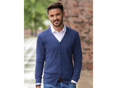 Men's V-Neck Knitted Cardigan