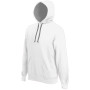 Hooded sweater met gecontrasteerde capuchon white / fine grey l