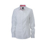 Ladies' Plain Shirt wit/rood-wit