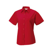 Ladies s/s Pure Cotton Easy Care Poplin Shirt