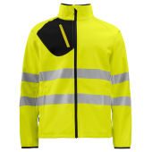 PROJOB 6432 SOFTSHELL JACKET YELLOW/BLACK 3XL