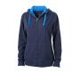 Ladies' Lifestyle Zip-Hoody navy/kobalt