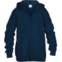 Heavy blend™classic fit youth full zip hooded sweatshirt navy 5/6 (s)