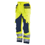 2215 Trouser HV Kl.2 Yellow/Navy C148